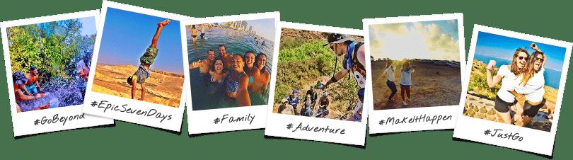 7 Day Trip Option Polaroid Collage