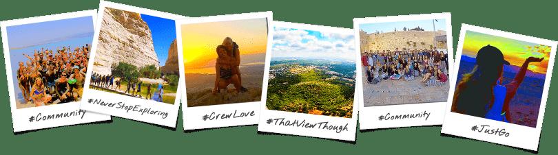 Arizona Birthright Israel Trip Options Polaroid Collage