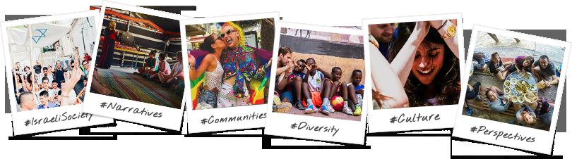 Birthright Israel Study Abroad sraeli Multiculturalism  Trip Options Polaroid Collage