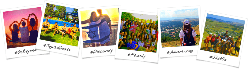 Chicago 7 Day Birthright Israel Trip Options Polaroid Collage