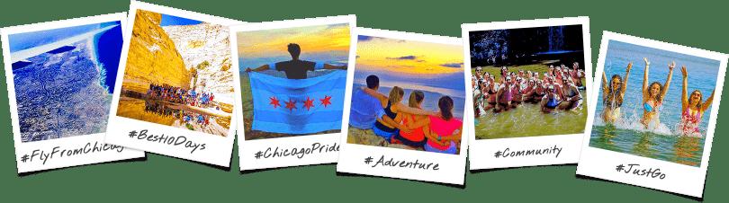 Chicago College Birthright Israel Trip Options Polaroid Collage