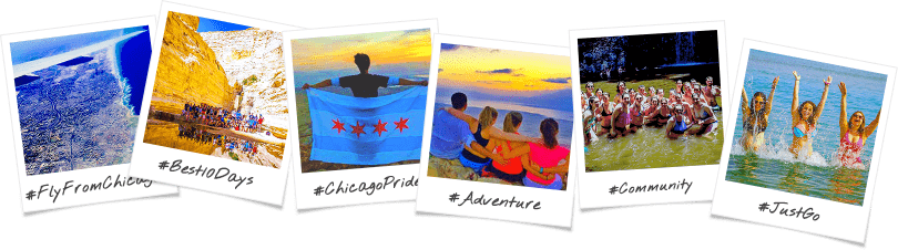 Chicago Graduate & Young Professionals Birthright Israel Trip Options Polaroid Collage