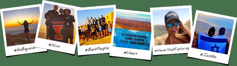 University of Illinois Birthright Israel Trip Polaroid Collage