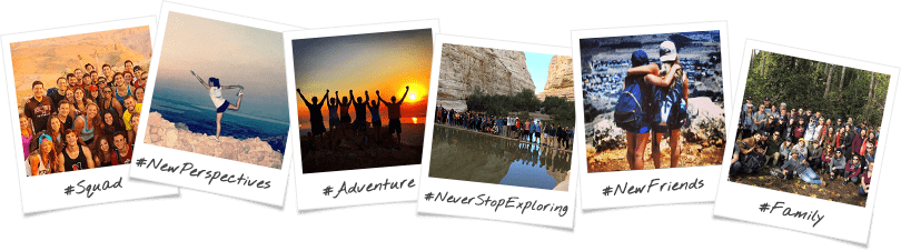 Kent State/Akron University Birthright Israel Trip Options Polaroid Collage