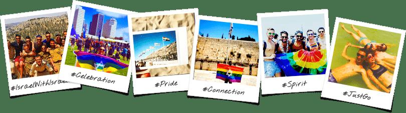 LGBTQ Trip Options Birthright Israel Polaroid Collage
