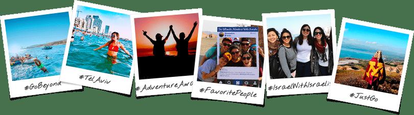 Minnesota Birthright Israel Trip Options Polaroid Collage