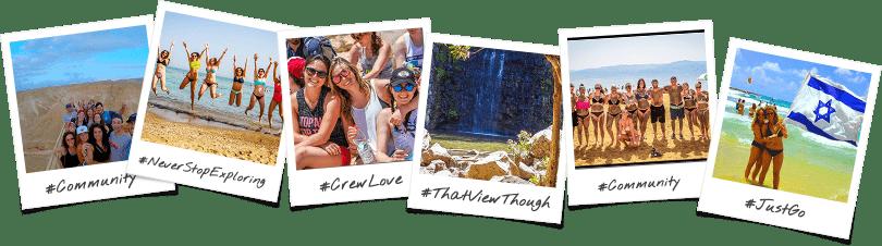 Santa Barbara Community Trip Options Birthright Israel Polaroid Collage