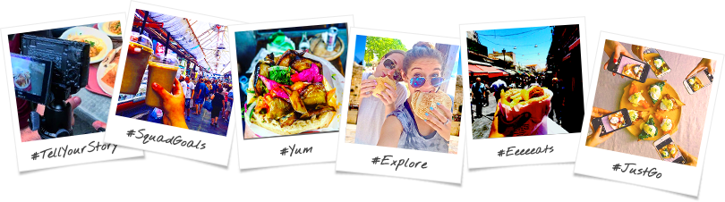 Taste of Israel Through The Lens Birthright Israel Trip Options Polaroid Collage