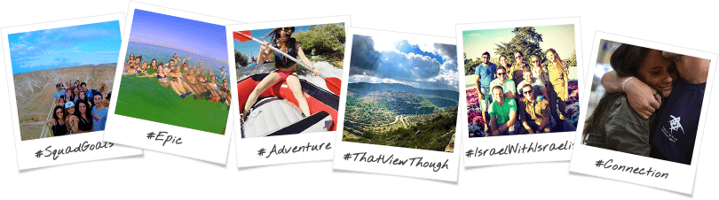 The Ultimate Advenutre JNF Birthright Israel Trip Options Polaroid Collage