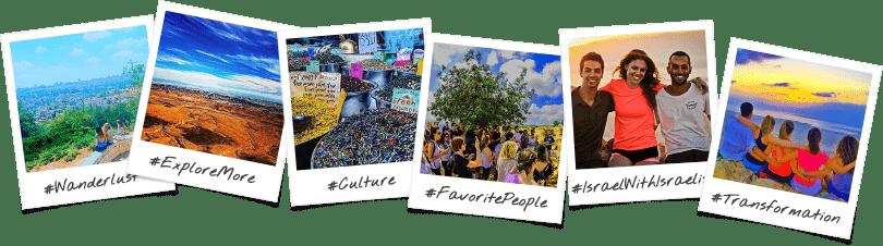 Philadelphia Community Birthright Israel Trip Polaroid Collage